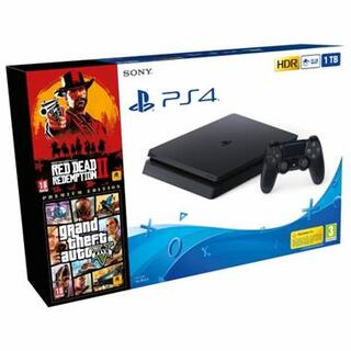 PS4 Slim 1TB + Red Dead Redemption 2 + GTA V